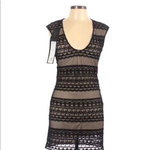 Patrizia Pepe Black Lace Embroidered Dress NWT